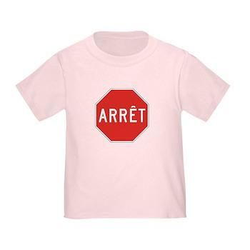 Stop, Quebec (CA) Toddler T-Shirt