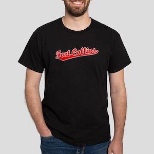 Retro Fort Collins (Red) Dark T-Shirt