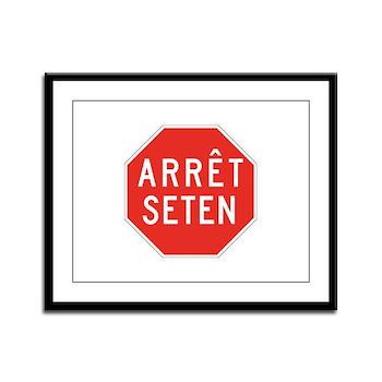 Stop Huron, Quebec (CA) Framed Panel Print