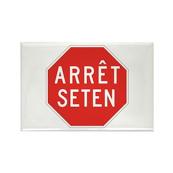 Stop Huron, Quebec (CA) Rectangle Magnet (100 pack