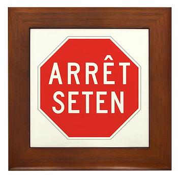 Stop Huron, Quebec (CA) Framed Tile