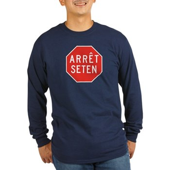 Stop Huron, Quebec (CA) Long Sleeve Dark T-Shirt