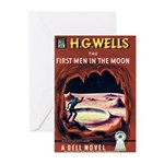 """Greeting (10)-""""The 1st Men in the Moon"""""""