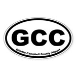 Gillette-Cambell County Airport Oval Sticker