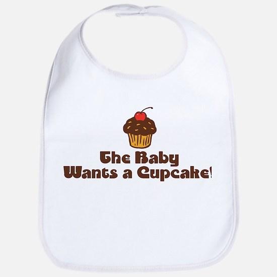 The Baby Wants a Cupcake Bib