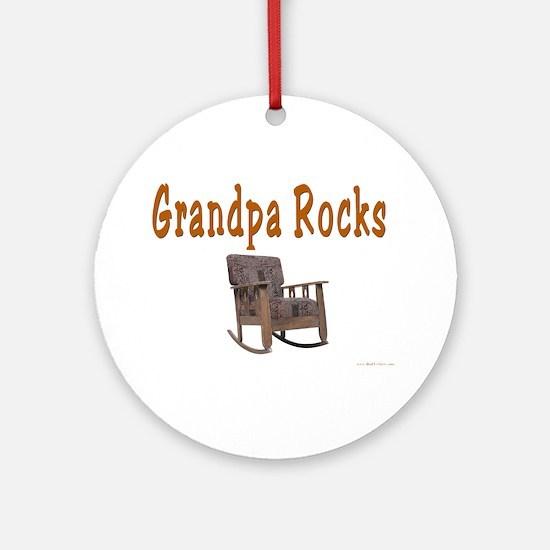 Grandpa Rocks Ornament (Round)