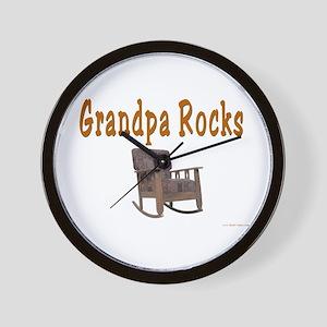 Grandpa Rocks Wall Clock