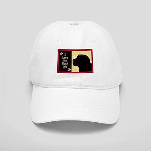 I Love My Black Lab Cap