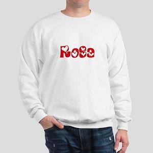 Rosa Surname Heart Design Sweatshirt