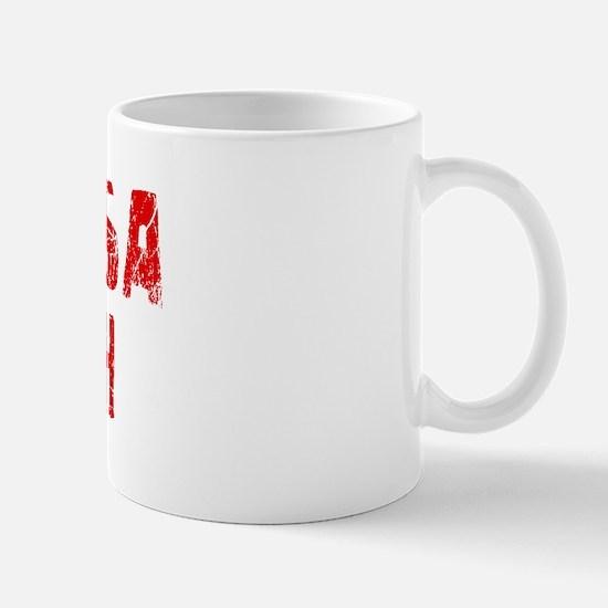 Hermosa Beach Faded (Red) Mug