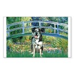 Bridge / Catahoula Leopard Dog Sticker (Rectangle)