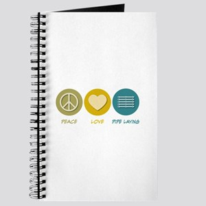 Peace Love Pipe Laying Journal