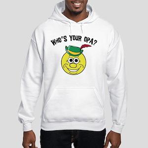 Who is Your Opa? Hooded Sweatshirt