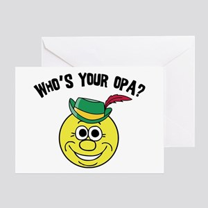 Who is Your Opa? Greeting Card