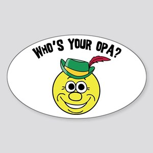 Who is Your Opa? Oval Sticker