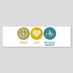 Peace Love Physical Therapy Bumper Sticker