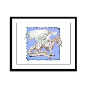 White Dragon 2 Framed Panel Print