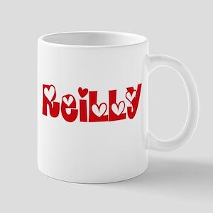 Reilly Surname Heart Design Mugs