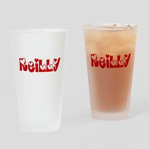 Reilly Surname Heart Design Drinking Glass