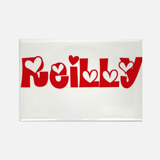 Reilly Surname Heart Design Magnets