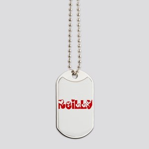 Reilly Surname Heart Design Dog Tags