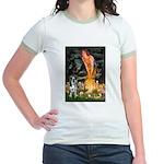 MidEve - Catahoula Leopard Jr. Ringer T-Shirt