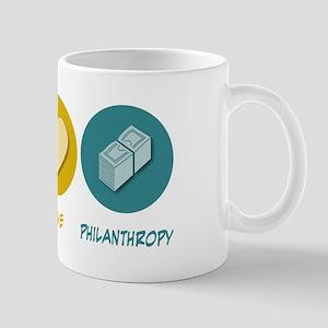 Peace Love Philanthropy Mug