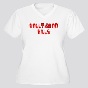 Hollywood Hi.. Faded (Red) Women's Plus Size V-Nec