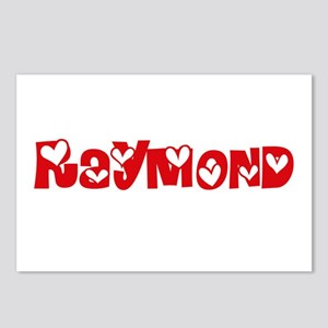Raymond Surname Heart Des Postcards (Package of 8)