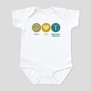 Peace Love Personal Training Infant Bodysuit