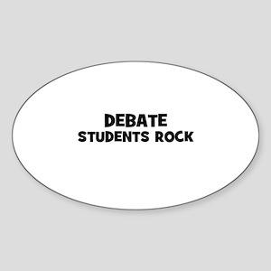 Debate Students Rock Oval Sticker