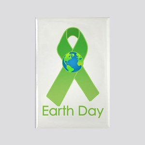 Green Earth Day Ribbon Rectangle Magnet