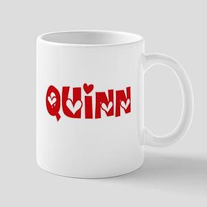 Quinn Surname Heart Design Mugs