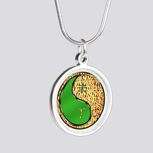 Fire Goat Silver Round Necklace