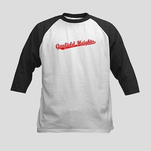 Retro Garfield Hei.. (Red) Kids Baseball Jersey