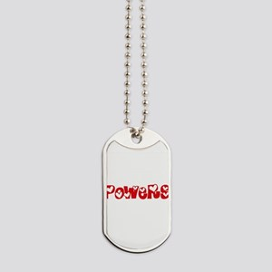 Powers Surname Heart Design Dog Tags