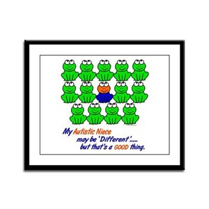 Different FROGS 1 (Niece) Framed Panel Print