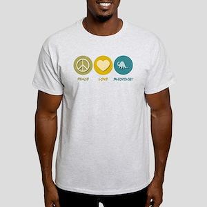 Peace Love Paleontology Light T-Shirt