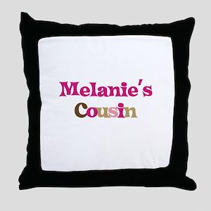 Melanie's Cousin Throw Pillow
