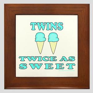 TWINS TWICE AS SWEET Framed Tile