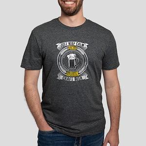 Just Keep Calm & Drink Craft Beer T Shirt T-Shirt