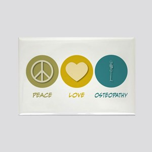 Peace Love Osteopathy Rectangle Magnet