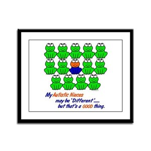 Different FROGS 1 (Nieces) Framed Panel Print