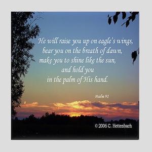 On Eagle's Wings...Psalm 91 Tile Coaster