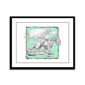 White Dragon 3 Framed Panel Print