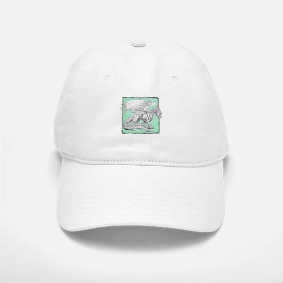 White Dragon 3 Baseball Baseball Cap
