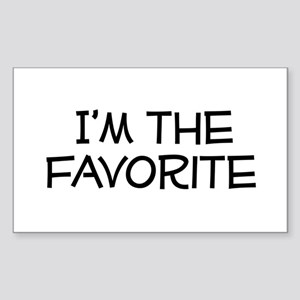 I'm the Favorite Rectangle Sticker