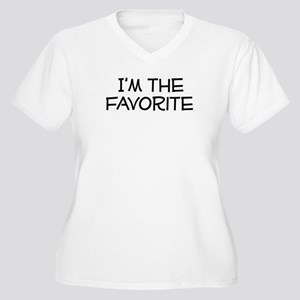 I'm the Favorite Women's Plus Size V-Neck T-Shirt