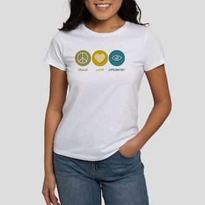 Peace Love Optometry Women's T-Shirt
