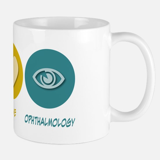 Peace Love Ophthalmology Mug